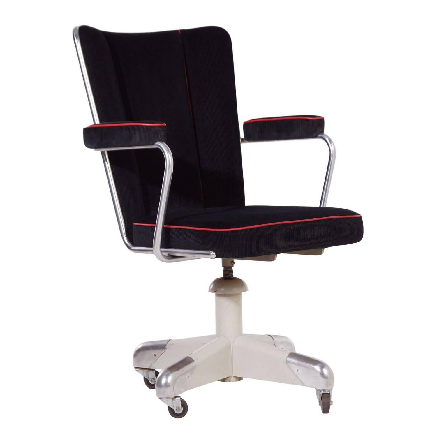 357 PQ President Desk Chair by Ch. Hoffmann for Gispen, circa 1953 For Sale at 1stdibs