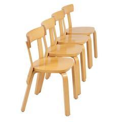 Set of Dining Chairs Model 69 by Alvar Aalto for Artek, 1933-1935