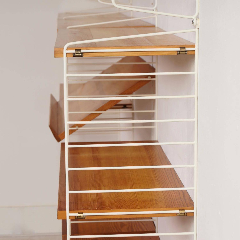 pine wall unit by nisse strinning for string design ab 1960s for sale at 1stdibs. Black Bedroom Furniture Sets. Home Design Ideas