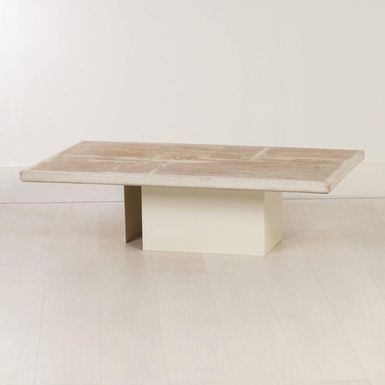 Rare Set Paul Kingma Coffee Table S In Off White 1986 At 1stdibs