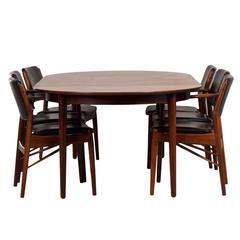 Extra Large Rosewood Dining Set by Arne Vodder for Sibast, Denemarken