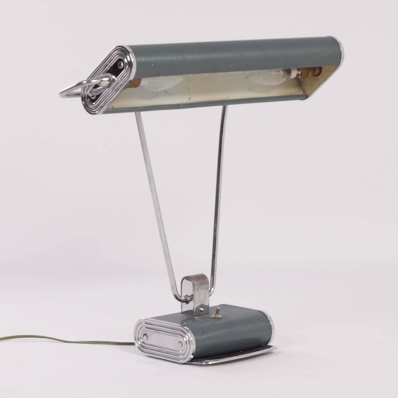 Desk Light For Art: Art Deco Desk Lamp By Eileen Gray For Jumo, 1930s For Sale