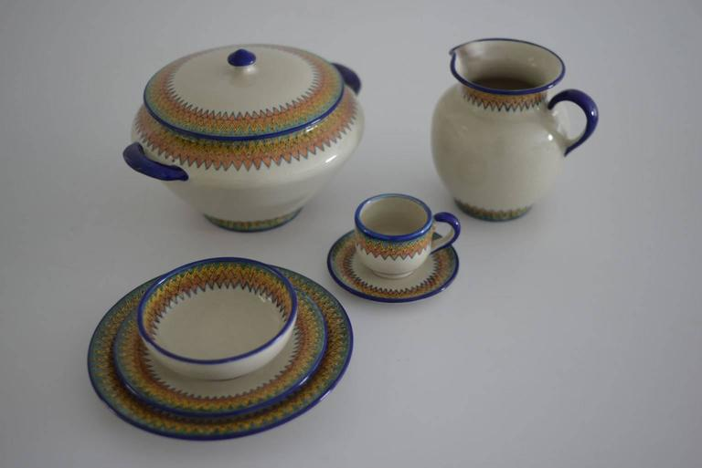 Baroque Mexican Colorful Talavera Dinner Set For Sale