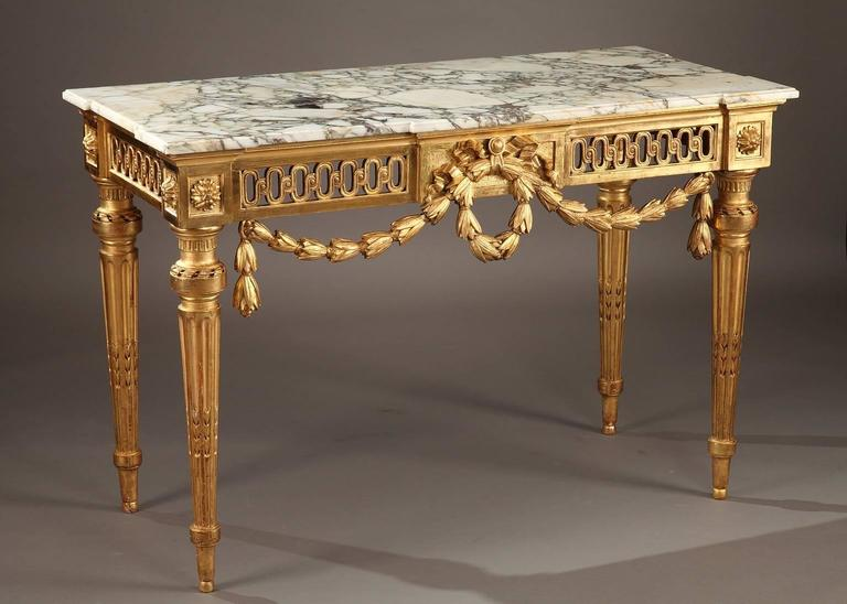 Louis XVI Console in Giltwood at 1stdibs