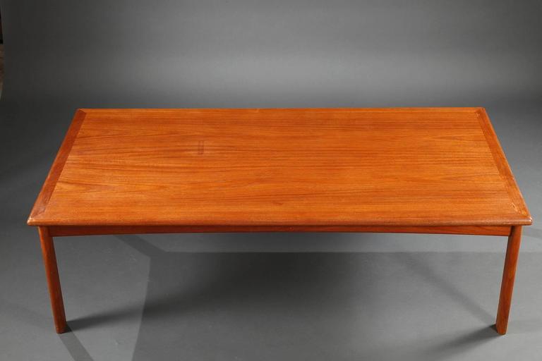 Coffee Table of the 1960s in Massive Teak Danish Design