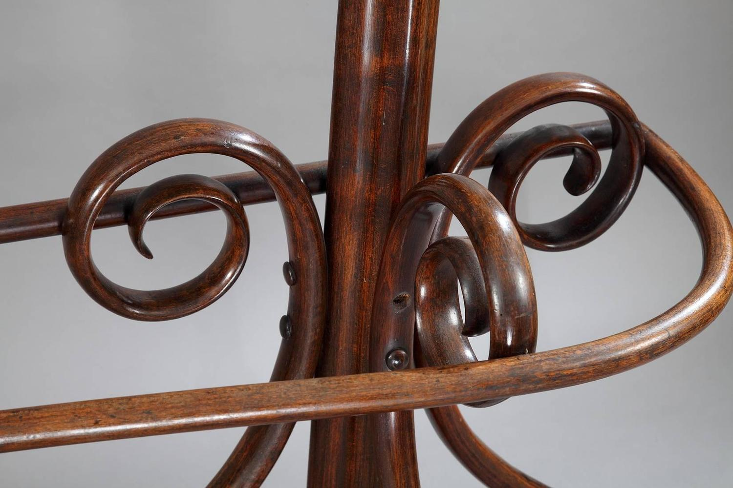 late 19th century thonet double coat rack art nouveau period for sale at 1stdibs. Black Bedroom Furniture Sets. Home Design Ideas