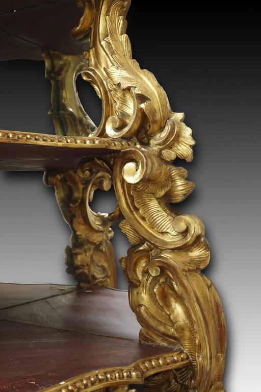 18th Century Italian Giltwood Corner Console For Sale 1