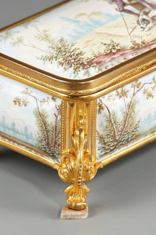 19th Century French Limoges Enamel Box For Sale 1