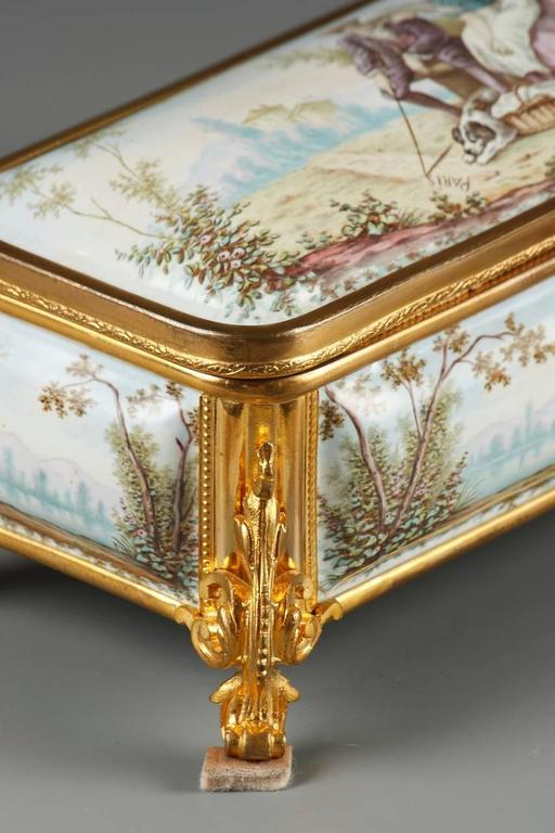 19th Century French Limoges Enamel Box For Sale 2