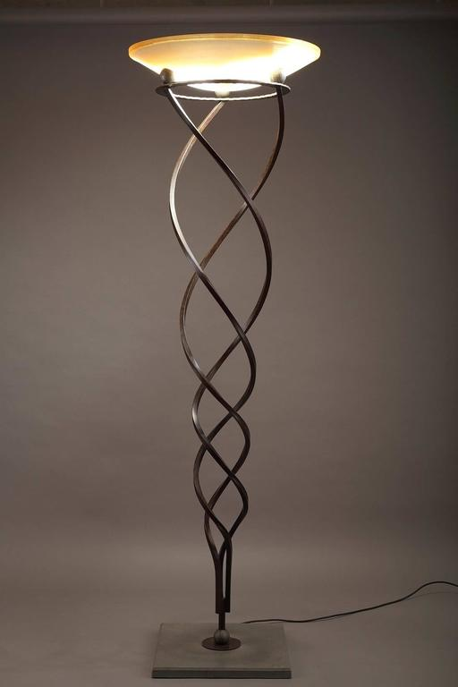 Terzani Lamp Stand Design by JF. Crochet, 1990 In Excellent Condition For Sale In Paris, FR
