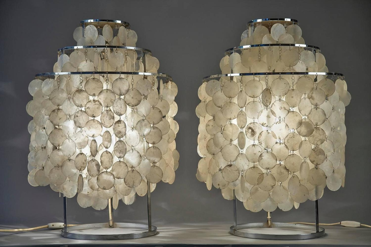 Verner panton pair of lamps model fun for sale at 1stdibs for Funny lamps for sale