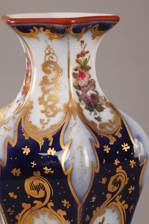 Mid-19th Century Pair of Napoleon III Porcelain Vases For Sale