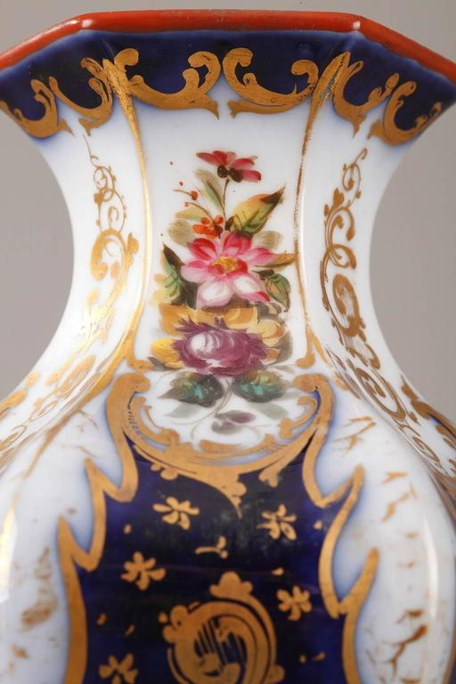 Pair of Napoleon III Porcelain Vases For Sale 1