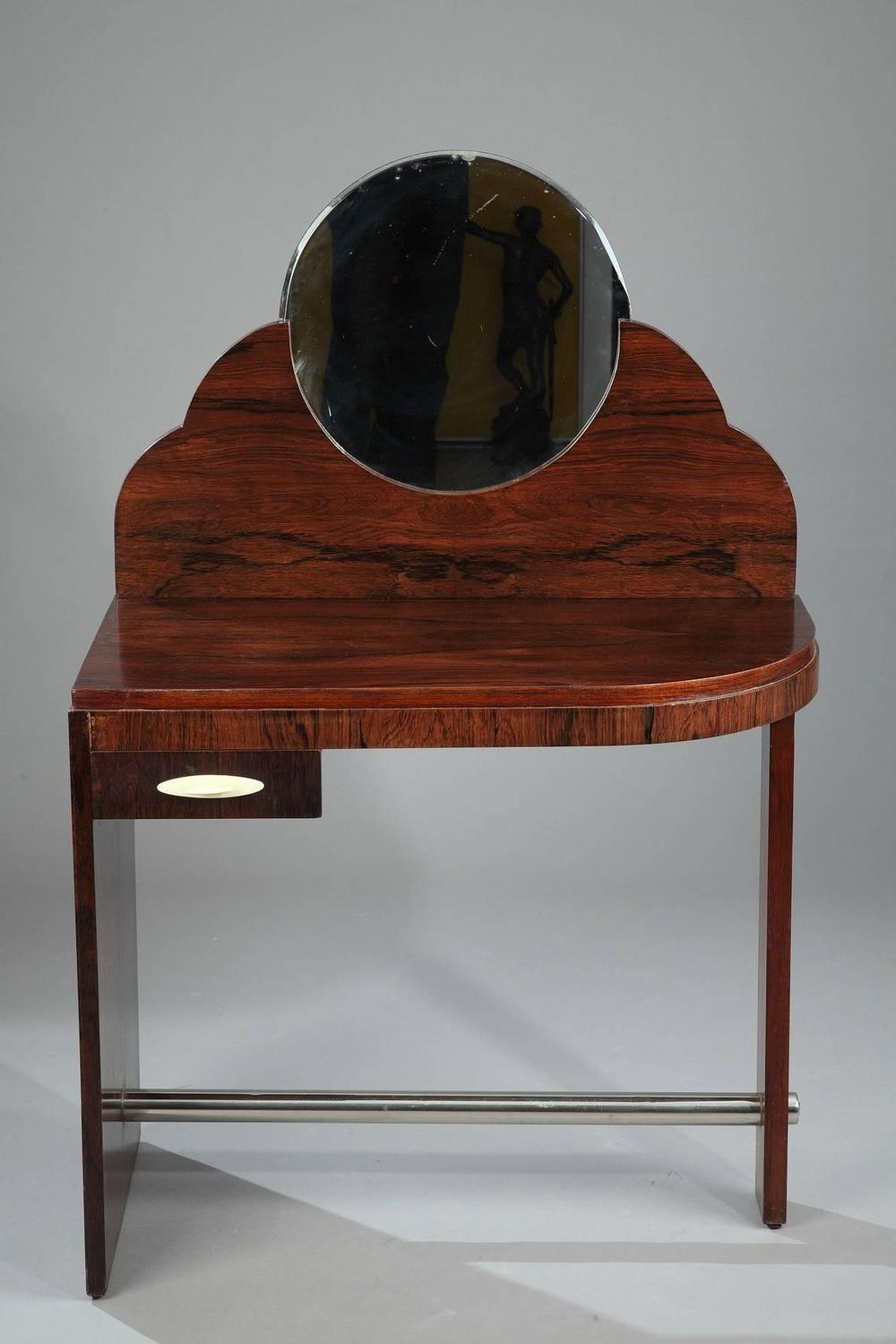 Rosewood art deco dressing table attributed to maison dominique for sale at 1 - Decoration maison 1930 ...