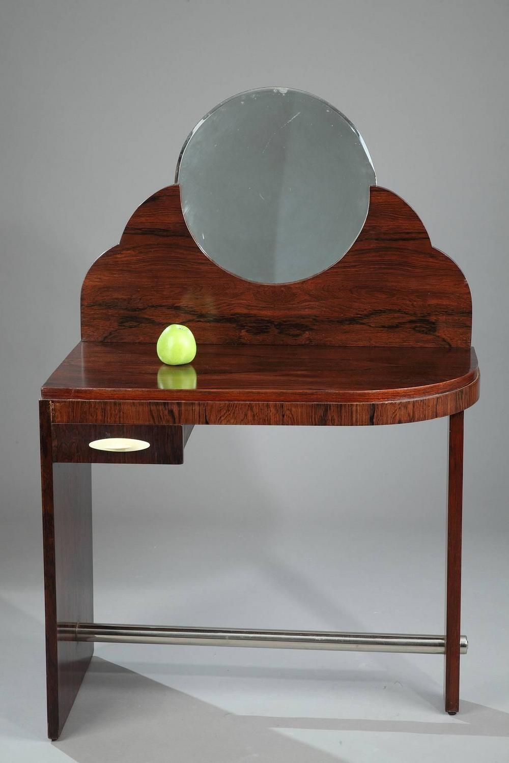 rosewood art deco dressing table attributed to maison dominique for sale at 1stdibs. Black Bedroom Furniture Sets. Home Design Ideas