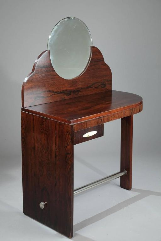 Rosewood art deco dressing table attributed to maison dominique at 1stdibs - Decoration maison 1930 ...