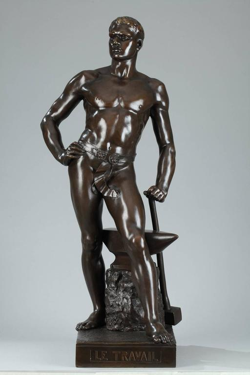 Bronze Study of Form Male Nude Sculpture- Small, STU-Home