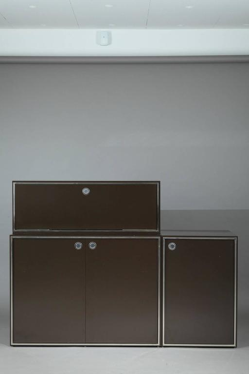 1970s Modular Wall Unit Attributed to Willy Rizzo 3