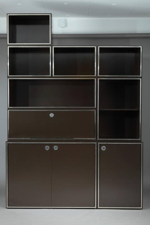 1970s Modular Wall Unit Attributed to Willy Rizzo 4