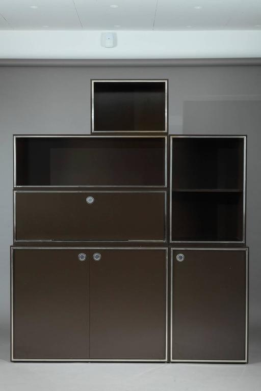 1970s Modular Wall Unit Attributed to Willy Rizzo 2
