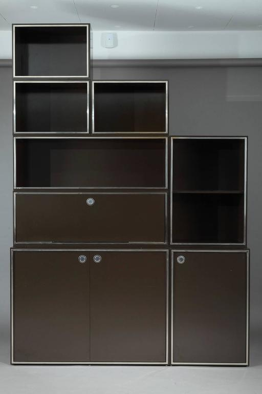 1970s Modular Wall Unit Attributed to Willy Rizzo 5
