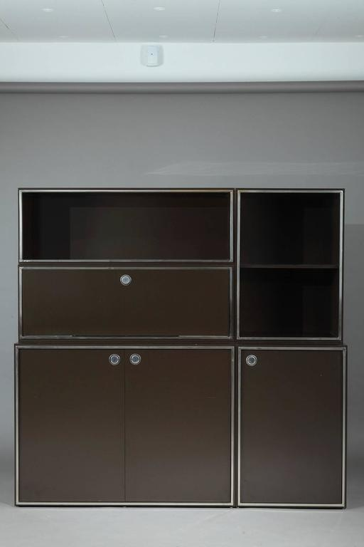 1970s Modular Wall Unit Attributed to Willy Rizzo 6