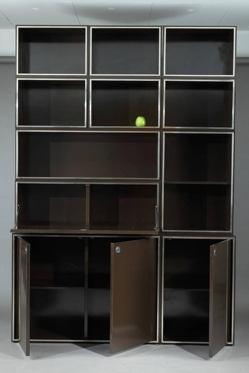1970s Modular Wall Unit Attributed to Willy Rizzo 7