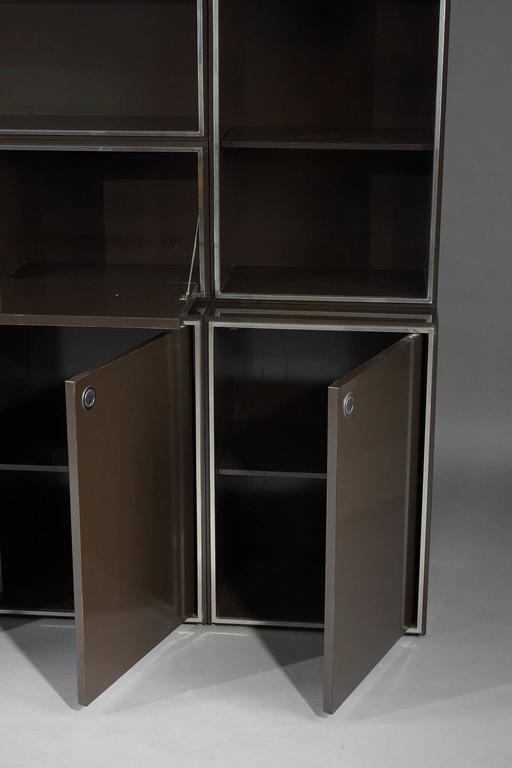 1970s Modular Wall Unit Attributed to Willy Rizzo 9