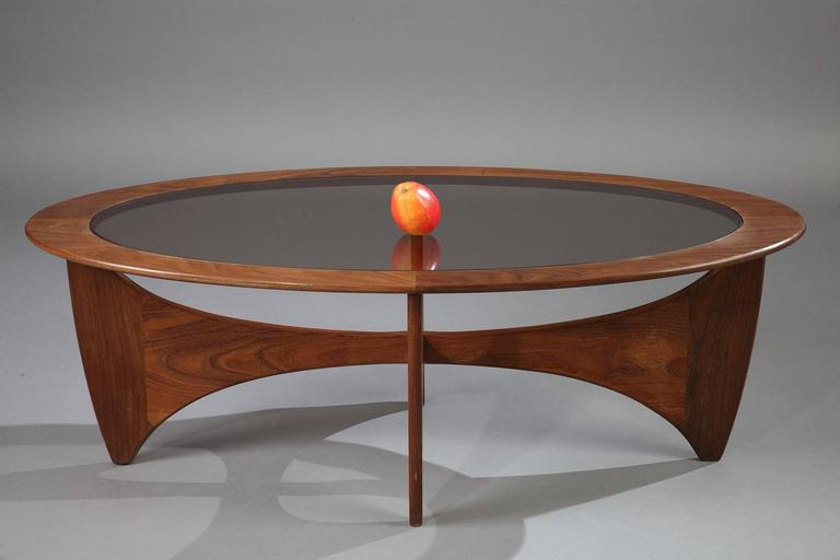 Astro Coffee Table.1960s Astro Coffee Table In Teak And Glass By Victor Wilkins