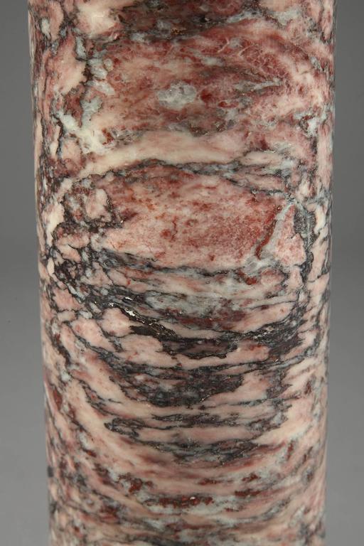 Gilt 19th Century Napoleon III Brocatelle Marble Column For Sale