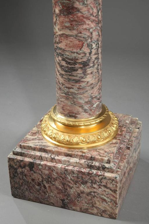 19th Century Napoleon III Brocatelle Marble Column In Good Condition For Sale In Paris, FR