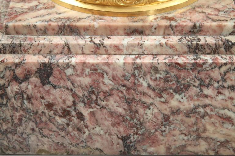 19th Century Napoleon III Brocatelle Marble Column For Sale 2