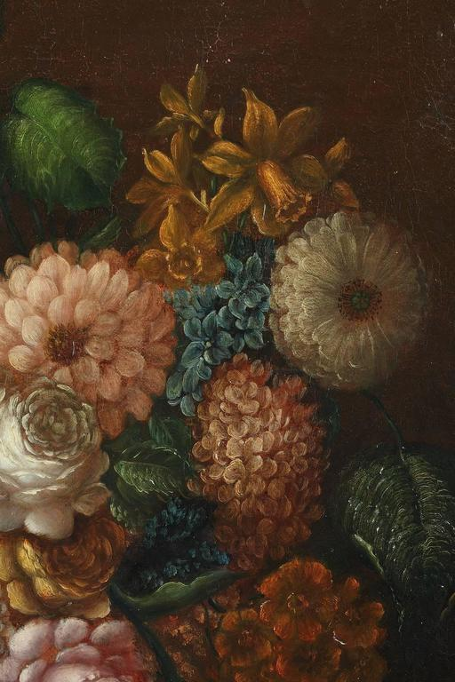 Pair of Oil on Canvas Paintings, Flower Bouquets from 19th Century ...