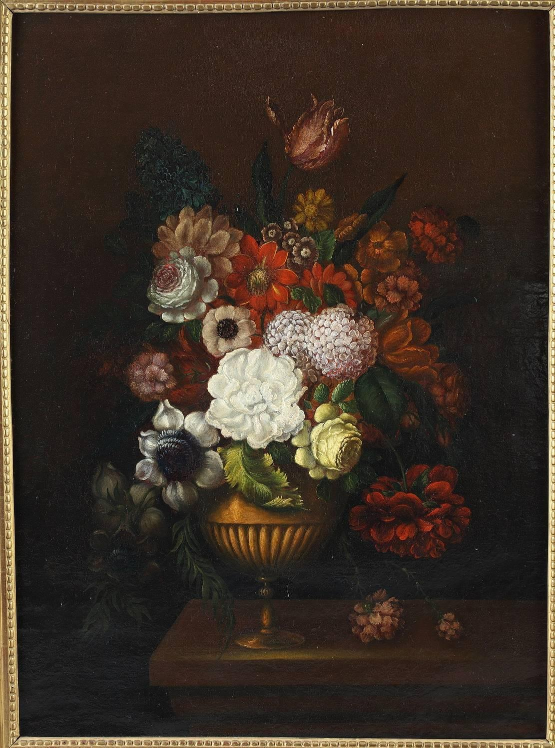 Pair of oil on canvas paintings flower bouquets from 19th century pair of oil on canvas paintings flower bouquets from 19th century for sale at 1stdibs izmirmasajfo