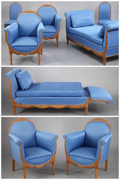 art deco living room set by paul follot 1877 1941 at 1stdibs. Black Bedroom Furniture Sets. Home Design Ideas