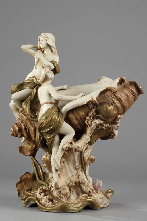 Art Nouveau Royal Dux Porcelain Centrepiece At 1stdibs