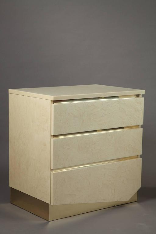 1980s Pair of Nightstands by Jean Claude Mahey & Eric Maville For Sale 1