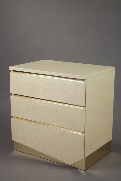 Mid-Century Modern 1980s Pair of Nightstands by Jean Claude Mahey & Eric Maville For Sale
