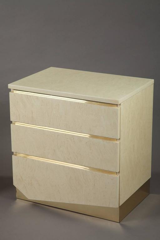 Late 20th Century 1980s Pair of Nightstands by Jean Claude Mahey & Eric Maville For Sale