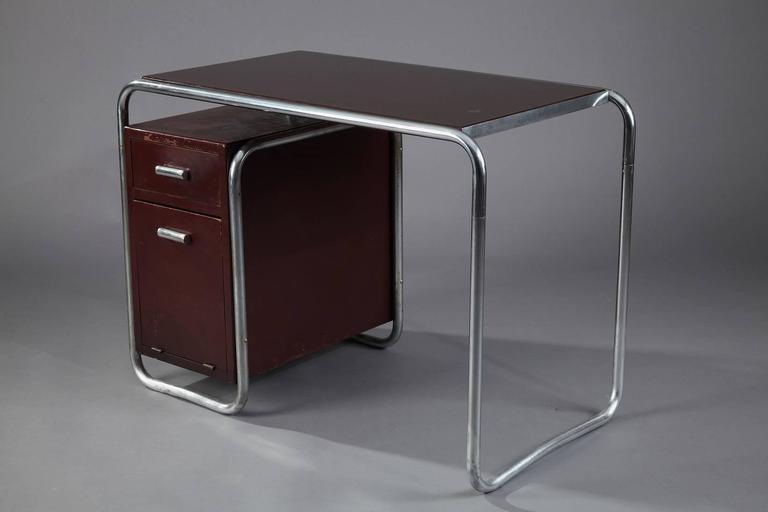 art deco marcel breuer bauhaus desk for thonet at 1stdibs. Black Bedroom Furniture Sets. Home Design Ideas