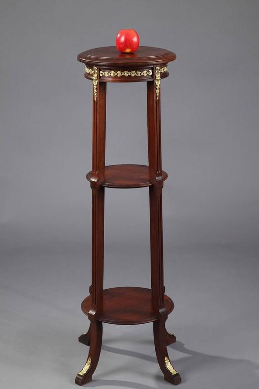 19th Century Mahogany Display Column In Good Condition For Sale In Paris, FR