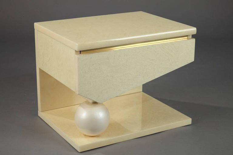Brass Eric Maville & Jean-Claude Mahey Nightstands For Sale