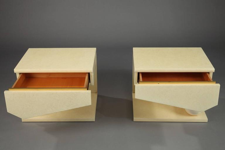 Eric Maville & Jean-Claude Mahey Nightstands For Sale 1