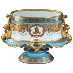 Large 19th Century Napoleon III Porcelain Jardinière