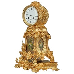 Late 19th Century Rocaille Ormolu Mantel Clock
