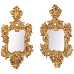 Pair of 18th Century Venetian Giltwood Wall Mirrors