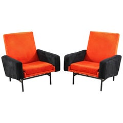 Pair of 642 Armchairs by A.R.P. for Steiner