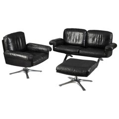 De Sede DS 31 Sofa, Swivel Lounge Armchair and Ottoman