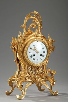 Small Ormolu Cartel Clock in Louis XV Style by Eugene Bagues
