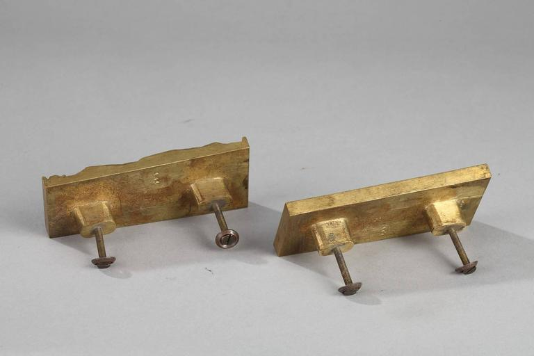European Art Deco Pair of Door Knobs For Sale